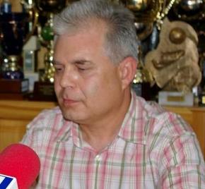 El presidente del Atlético Bembibre, Gerardo de la Mata