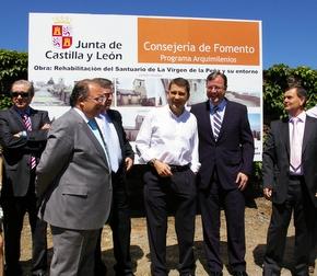 Antonio Silván, con Fernández, Valcarce, Riesco y Velasco