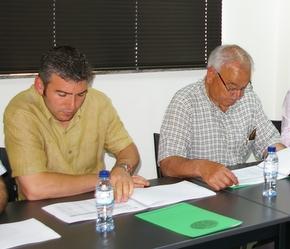 Los alcaldes de Igüeña y Noceda, Alider Presa y Emilio Arias