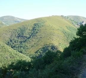 Imagen de la sierra de Gistredo vista desde Noceda