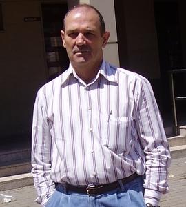El autor, Ivo García, en Igüeña