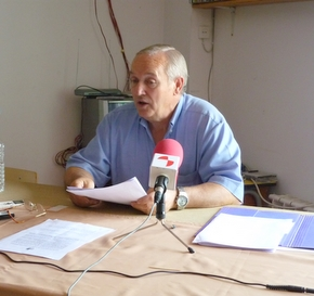 El portavoz de la comisión de vecinos, José González