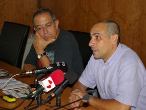 En la presentación, Tomás Néstor y Jesús Celemín