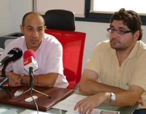 Jesús Celemín y Manuel Cuenya durante la presentación