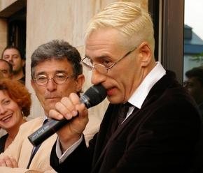El pregonero, Luis Miguélez, durante su discurso