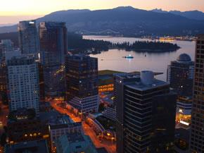 Panorámica de Vancouver desde el Lookout