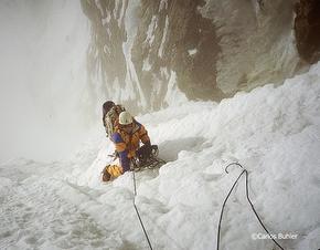 Carlos Buhler en una de sus ascensiones