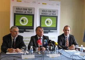 Imagen de la rueda de prensa donde se avanzó información sobre la TDT