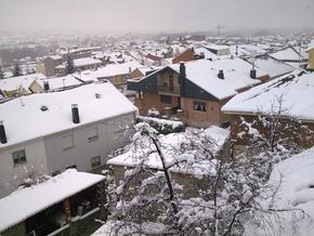 Imagen de una de las nevadas caídas en Bembibre