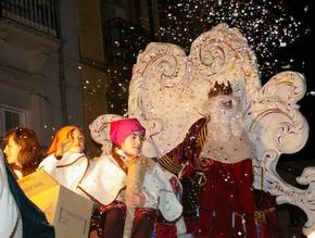 La cabalgata de Reyes es uno de los actos más vistosos