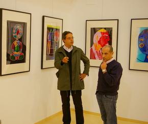 Alfonso Fernández Manso con el concejal Celemín