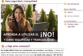Le entidad bancaria ofrece consejos de seguridad en su web
