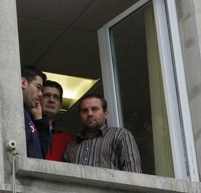 Imagen de los tres trabajadores encerrados