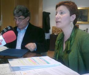 El alcalde y la concejala, en la presentación del presupuesto
