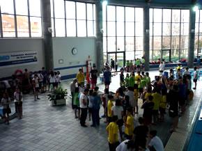 Imagen general de los nadadores