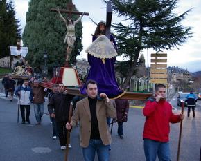La primera procesión presentó los Pasos de la Semana Santa