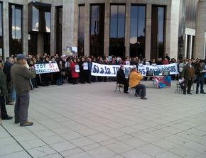 Imagen de la concentración. Foto: Federación Bierzo Rural