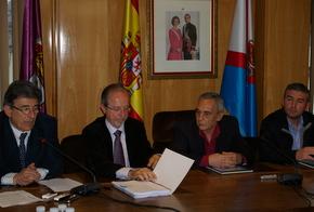 Jorge Marquínez, con Esteban, Anta y Presa