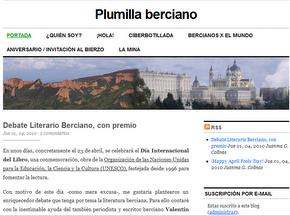 Una imagen del blog 'Plumilla Berciano' sobre el concurso