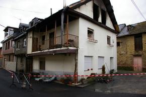 Imagen de la vivienda que mayores daños sufrió