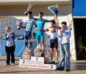 Rubén Rodríguez en el podium de Aguilar de Campoo