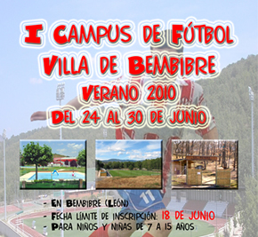 Cartel anunciador del I Campus de Fútbol
