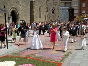 La llegada de la procesión
