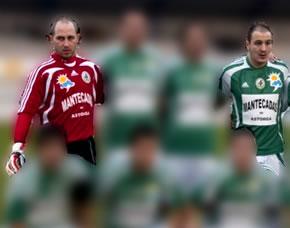 Javi y Rivadulla en una imagen con su anterior equipo