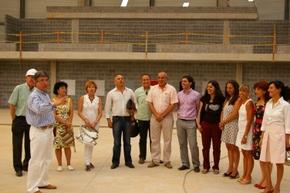 Un momento de la visita en el complejo de La Tejera