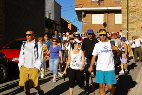 Un grupo de participantes al inicio de la Ruta
