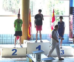 Cristian Prada en el podium