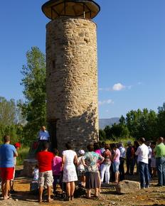 Un momento de la inauguración de la torre