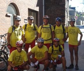 Los ciclistas pararon en Torre del Bierzo y Bembibre