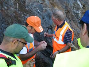La escursión contó con la presencia de dos geólogos reconocidos