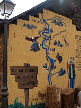 Gráfico de la ruta en San Facundo