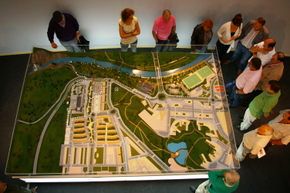 Maqueta del futuro recinto del Museo de la Energía