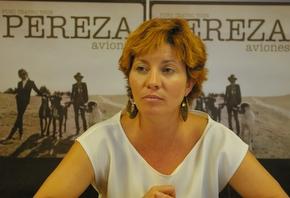 Nancy Prada en la presentación del concierto de Pereza
