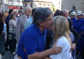 El alcalde y otros concejales de la Corporación dieron ánimo a las familias