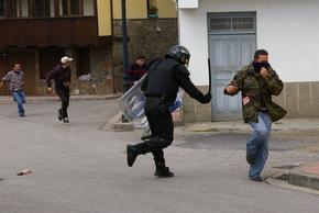 Los GRS entraron en núcleo urbano para disuadir a los manifestantes