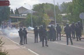 Los GRS disuaden a los manifestantes