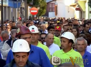 Un millar de personas se manifestaron en Bembibre