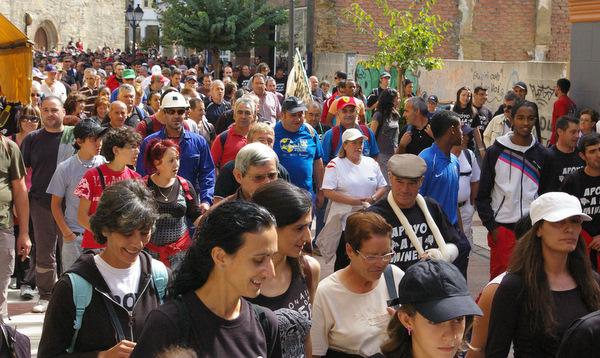 En la salida los participantes llenaron las calles de Bembibre
