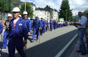 Los mineros que siguen la Marcha Negra llegarán a Ponferrada a las 19 horas