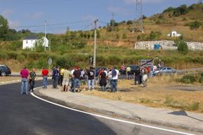 Un momento de la última protesta minera, el pasado 2 de septiembre
