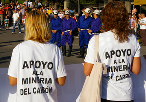 Los mineros han recabado muchos apoyos en sus reivindicaciones