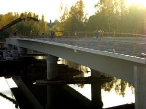 Situación en la que se encuentra actualmente la construcción del puente