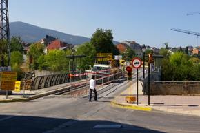 El puente sufrió varios cortes durante los trabajos de reaparación
