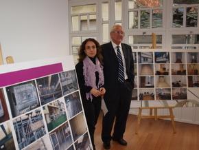 La concejala, Fabiola García, con el edil de Obras, Roberto Camblor, en la inauguración