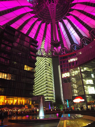 Cúpula del Sony Center de Helmut Jahn en Potsdamer Platz