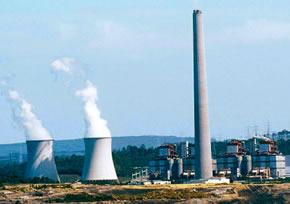 Producción de energía en una central térmica